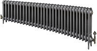 Eastgate Victoriana 3 Column 30 Section Cast Iron Radiator 450mm High x 1840mm Wide - Metallic Finish